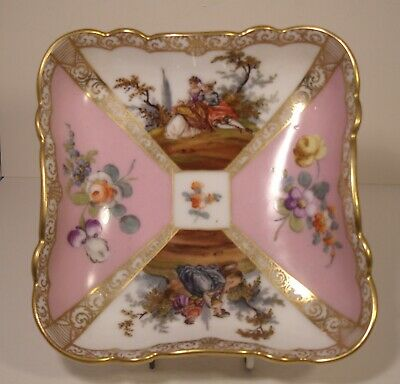 Stunning Dresden Watteau Square Dish  • 39.99£