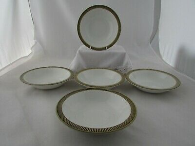 Poole Pottery   Choisya   Pattern Cereal Dishes - Olive Green • 7£