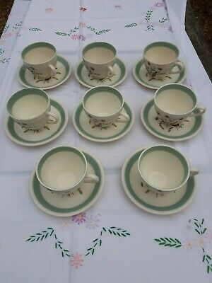 ALFRED MEAKIN Vintage China 'HEDGEROW' - Coffee Cups And Saucers -16 Piece Set • 10£