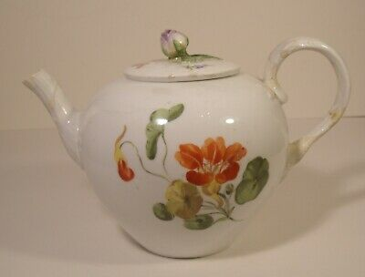 Meissen Hand Painted Teapot Second Quality A/F • 44.99£