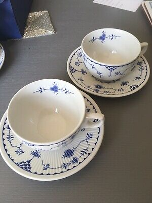 2 Furnivals Blue Denmark Cups And Saucers • 5.99£
