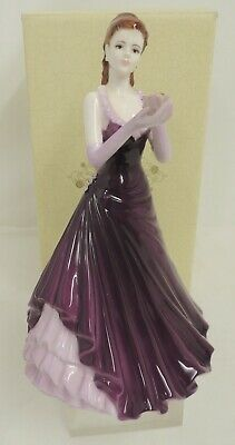 Coalport Ladies Of Fashion - Holding A Flower- Boxed - Thames Hospice • 10£