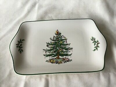 Spode Christmas Tree Pottery, Serving Dish, 30 X 18 Cm, No Chips Or Cracks • 10£