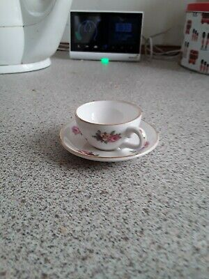 ROYAL ADDERLEY Bone China Miniature Cup And Saucer   Floral   Design  • 5£