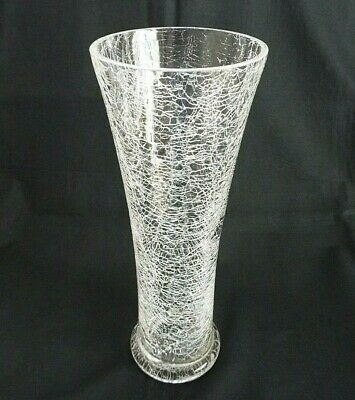 Crackle Glass 12  Vase • 17.95£