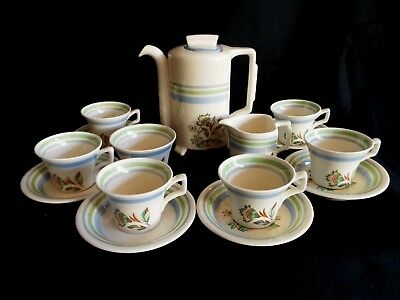 Vintage Art Deco Style Pountney Bristol Amberone Coffee Set. • 27.50£
