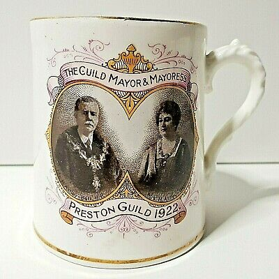 1922 Preston Guild W Kilner Stanley China Cup Mug Tankard H 3.5  • 32.10£