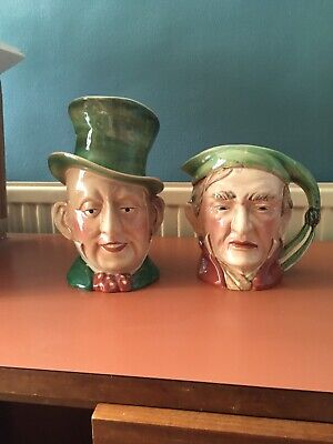 2 Large Beswick Character Toby Jugs Scrooge And Micawber 10-8 Inches No Damage • 30£