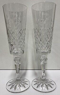 Galway Crystal Engagement Champagne Flute Set • 22.50£