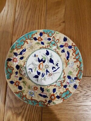 Antique Hand Painted Floral Plate.  Possibly 18th/19th Century • 5£