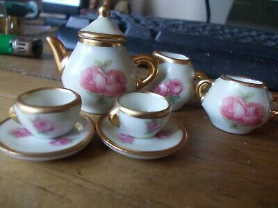 Miniature Limoges China Tea Set • 1.50£