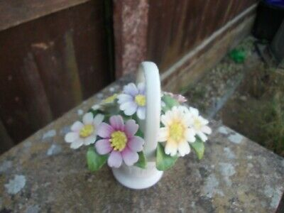 Aynsley Fine Bone China Flower Basket In Lovely Condition • 3.20£