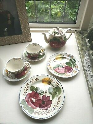 Simpsons Belle Fiore Hand Painted Pottery/tableware Looks Lovely Displayed • 16.95£