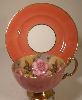 Aynsley Mismatch Floral Cabinet Cup And Shelley Saucer • 14.99£