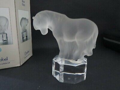 Goebel's Zoo Animals-frosted Crystal Horse Ornament Clear Base- Box-pre-owned • 5.99£
