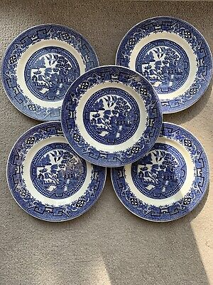 Swinnertons Staffordshire England Old Willow Side Plates X 5 • 15£