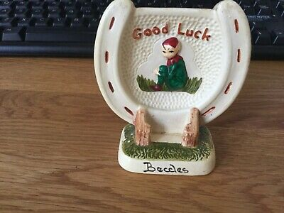 Early Vintage Manor Ware Good Luck Horseshoe From BECCLES. Makers Marks. • 9.99£