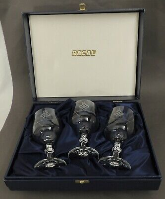 RACAL Set Of 3 Commemorative Glasses In  Blue Presentation Box - Thames Hospice • 15£
