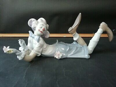 Rare Lladro #6913 Figure, The Magic Of Comedy Clown, With Flowers • 175£