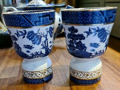 Booths Real Old Willow Double Egg Cups X 2  • 19.95£