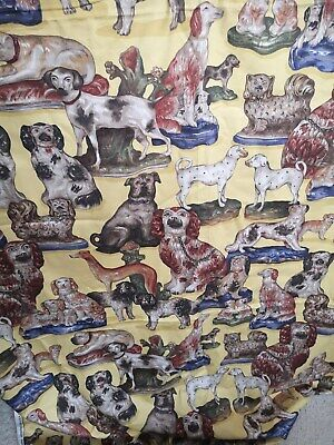 Material-Beautiful Staffordshire Dogs Material Made In USA • 9.99£