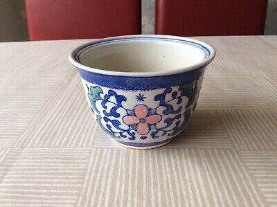 Chinese Pottery Floral Planter • 4.99£