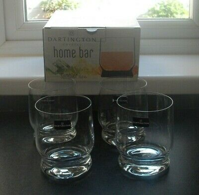 4 Dartington Crystal Tumblers, Signed, Boxed 35 Cl • 12.99£