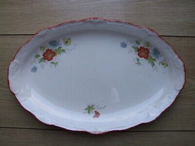 Vintage 'Swinnertons, Staffordshire' English China Oval Floral Plate • 1.99£