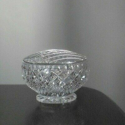 Cut Glass Lead Crystal Rose Bowl And Mesh • 6.99£
