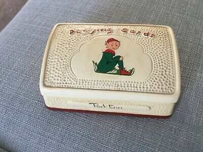 Vintage Manor Ware Playing Cards Box PORT ERIN.  Maker's Name. • 6.99£