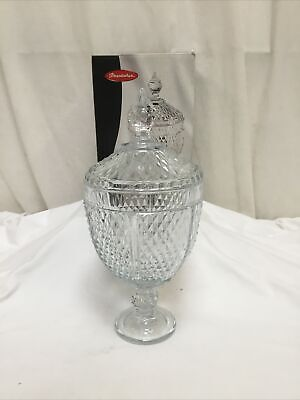 Pasabahce Glass Decorative Candy Sweet Cotton Wool Crystal Effect Jar BNIB • 6.95£