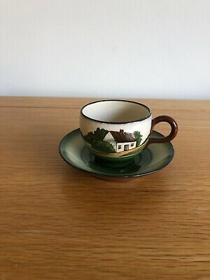 Torquay Pottery Cup And Saucer • 3£