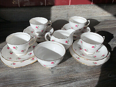 Pretty Vintage Colclough Tea Set Rose Bud Design Pattern 7433 • 38£