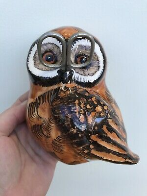 Philip Laureston Babbacombe Pottery Brown Owl Wall Mounted String Scissor Holder • 5£