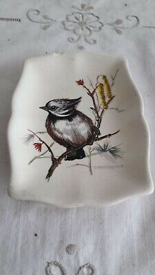 Vintage Axe Vale Pottery Bullfinch Jewellery Bowl / Trinket Dish   • 4.50£