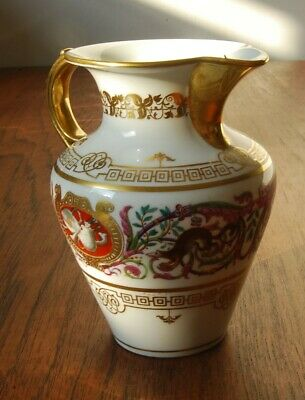 SEVRES Antique French Porcelain Milk Jug 19th C • 50£