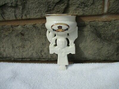 Handmade  Irish Porcelain  Wall Pocket/ Holy Water Font /  Signed On The Back  • 10£