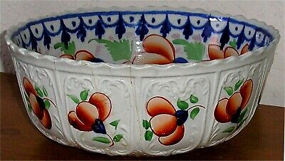 Large Victorian Gaudy Welsh Fruit Bowl • 9.99£