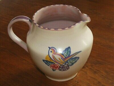 Carter, Stabler And Adams Poole Pottery Jug With Bird Design  • 12£