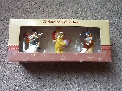Royal Doulton Classic Pooh Christmas Collection Set 2 Tree Decorations Nib • 35£
