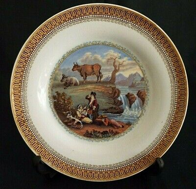 Vintage Prattware The Waterfall Picture 7  Plate  • 4.95£