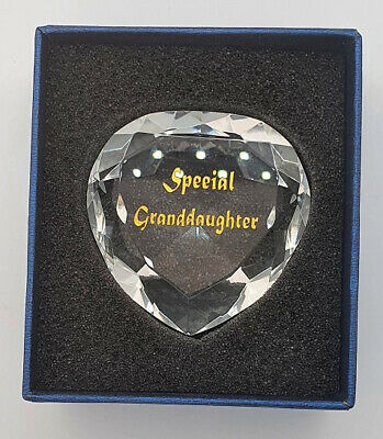 CRYSTAL SPECIAL GRANDDAUGHTER HEART 5cm • 9.99£