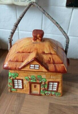 Vintage Westminster  Cottage  Biscuit Barrel/Cookie Jar, Hanley, Staffordshire • 3.50£