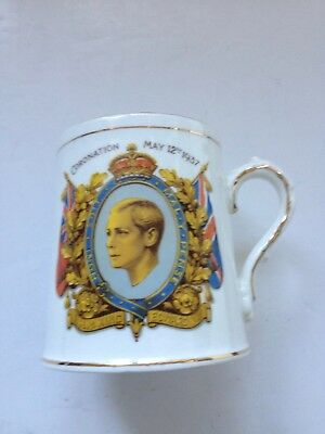 Excellent Bone China 1937 King Edward VIII Coronation Mug By Stanley China • 12£