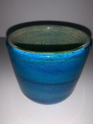 Unusual Early Mdina Glass Vase C.1970 • 95£