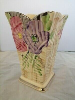 Beautiful Vintage Art Deco Vase Arthur Wood Hand Painted Rare Geometric Ceramic  • 38£