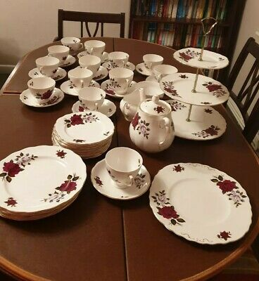 Vintage Colclough  Amoretta  47 Piece China Tea Set Including 3 Tier Cake Stand  • 49.98£