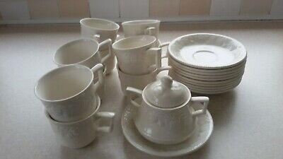 10 BHS LINCOLN CUPS & SAUCERS - GREAT CONDITION  And Sugar Bowl • 20£
