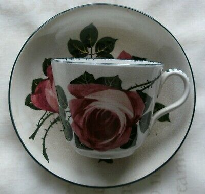 Rare Pountney Bristol, George Stewart Wemyss Cabbage Rose Cup And Saucer • 32£