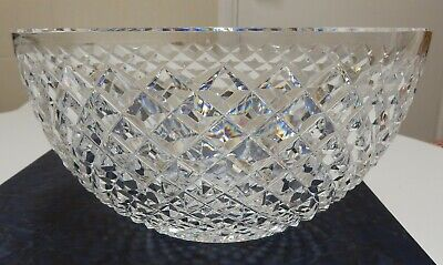 Vintage Large Waterford Cut Glass Crystal Bowl 'Alana' Pattern 8  Diam. Signed • 49.99£